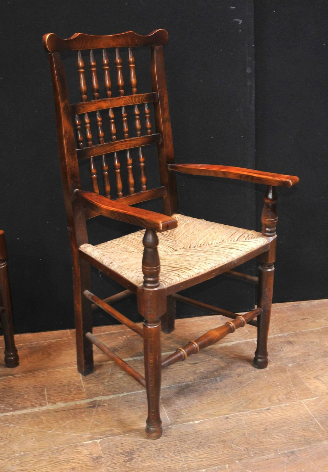 farmhouse chairs for sale chair that folds out into a bed set of eight oak spindle back dining kitchen