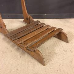 Antique Beach Chair 30 Stand Norms French Oak Foldable Chairs Set Of Two At