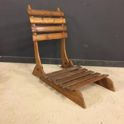 Antique Beach Chair Ergonomic Ikea French Oak Foldable Chairs Set Of Two At