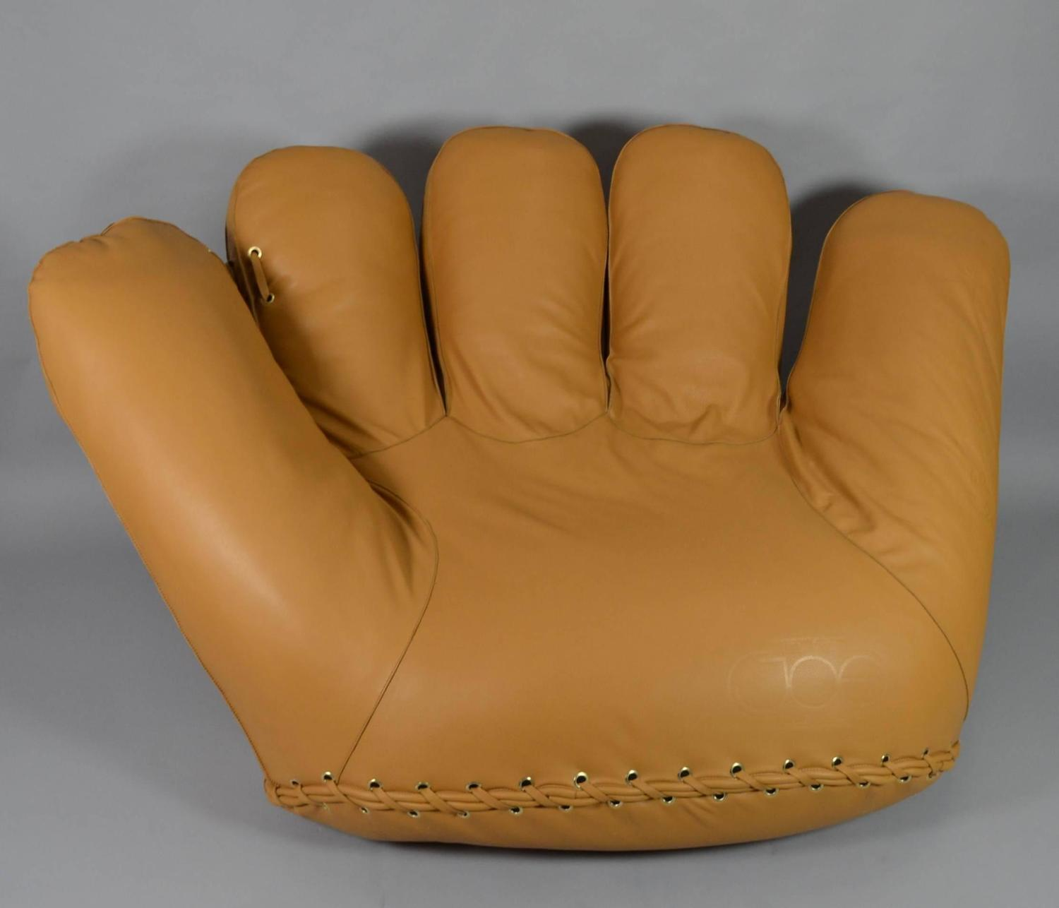 baseball glove chair home goods most expensive sold joe lounge leather at 1stdibs