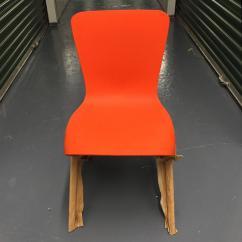 Washington Skeleton Chair Turquoise Blue Accent Orange Skin By David Adjaye For Knoll