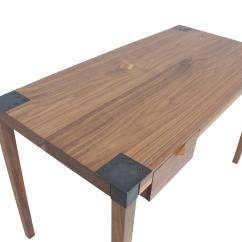 Steel Chair Joints Large Covers Wedding Solid Wood Writer 39s Desk Maple Or Walnut With
