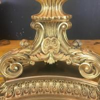 Mid-20th Century French Gilt Bronze Table Lamp Empire ...