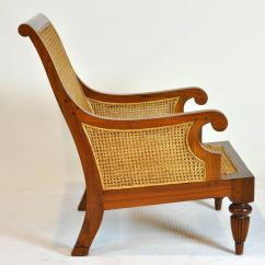 British Colonial Chair Walmart Fold Out Imports Caned Leather Plantation Style