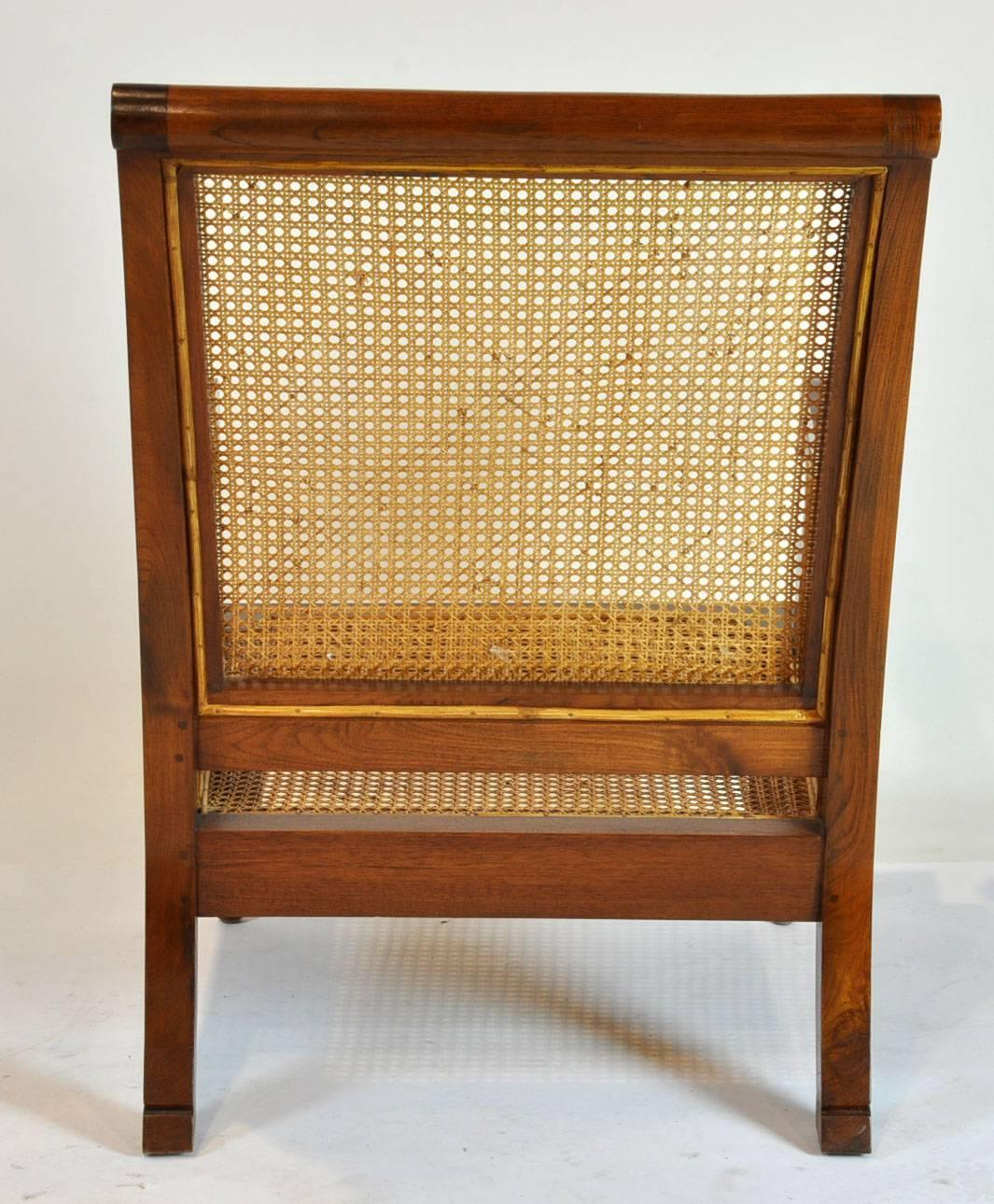 british colonial chair kensington leather imports caned plantation style