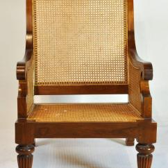 British Colonial Chair Swivel Arm Chairs Imports Caned Leather Plantation Style