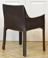 Iconic Mario Bellini Design Leather Dining or Work Chair ...