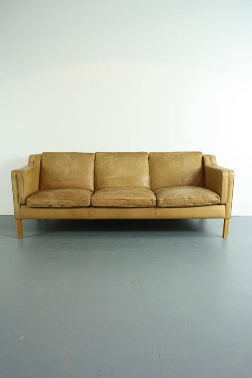 borge mogensen sofa model 2209 7 seater set olx delhi vintage camel leather style 1970s three-seat ...