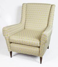 Pair of Mid-Century Modern Club Chairs Reupholstered in ...