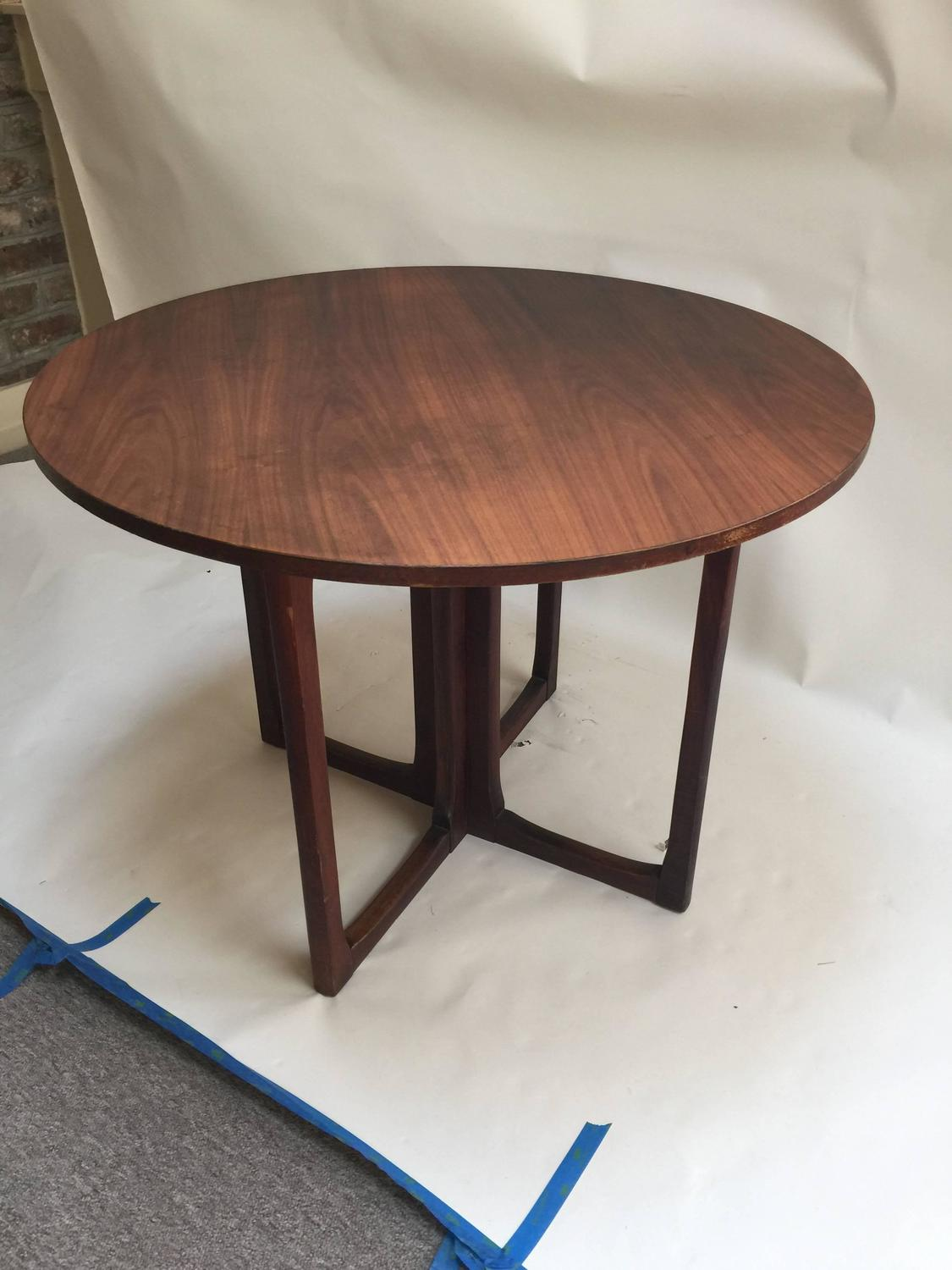 Danish Modern Game Table and Four Chairs 1960s For Sale