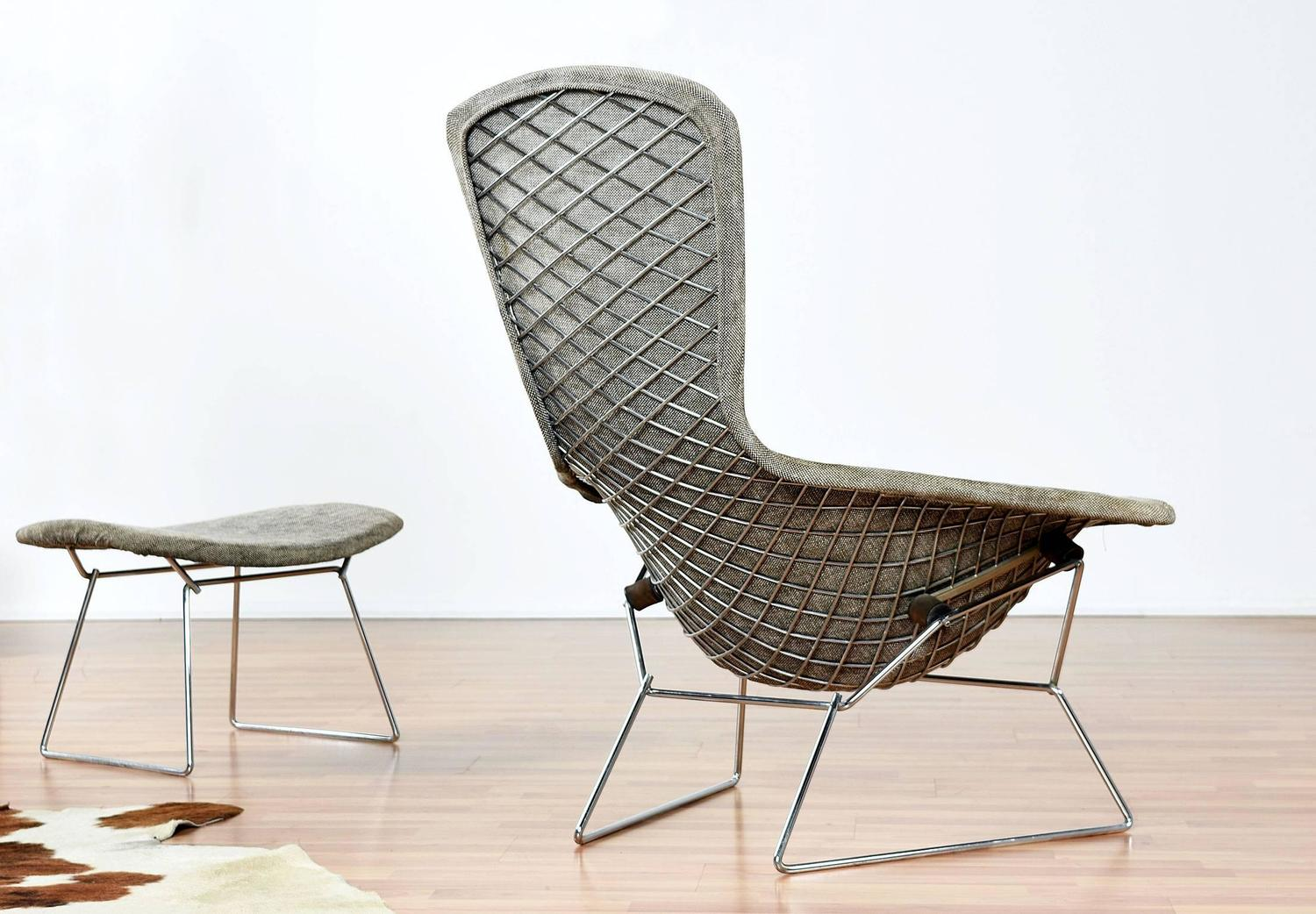 Bird Chair Authentic Vintage Harry Bertoia For Knoll Bird Chair And