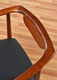 Set of Four Curved Back Mid-Century Armchairs at 1stdibs