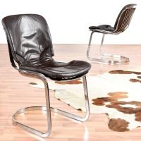 Mid Century Modern Willy Rizzo Style Italian Chrome and