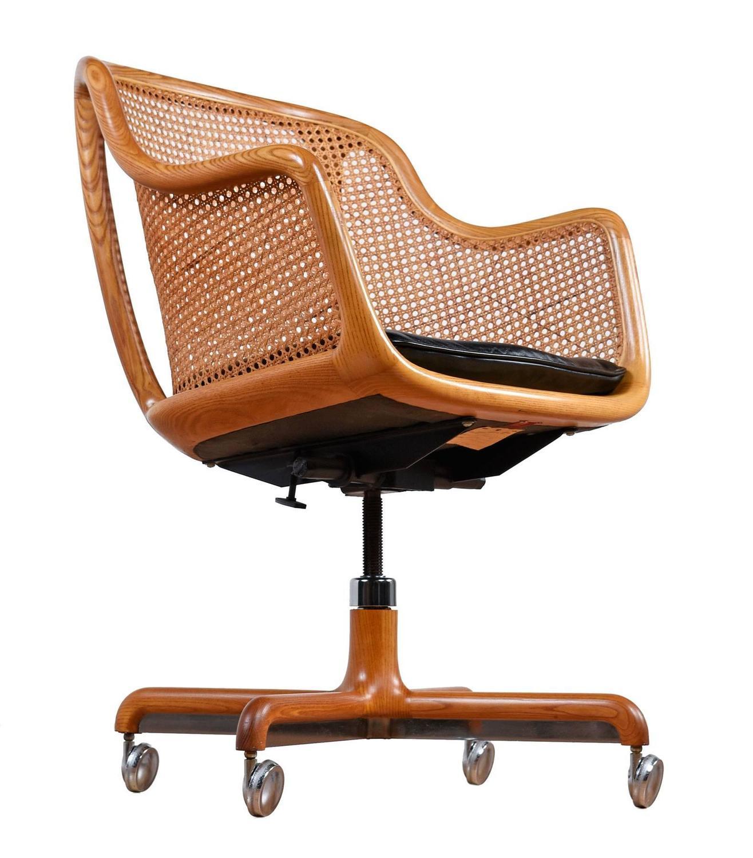 office chair dealers near me heavy duty outdoor chairs mid century modern cane swivel desk by ward bennett