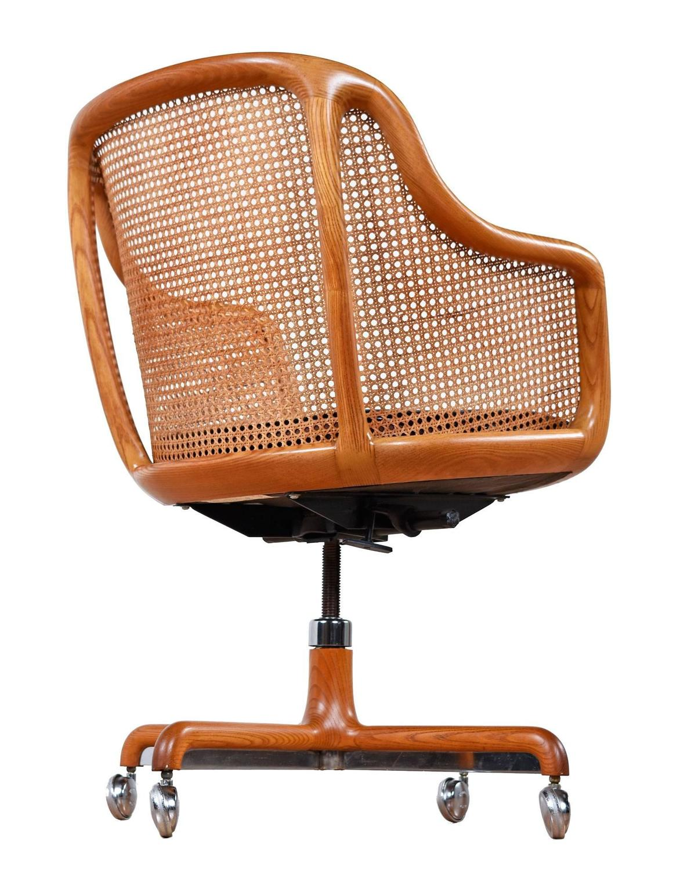 office chair dealers near me wedding cover hire wales mid century modern cane swivel desk by ward bennett