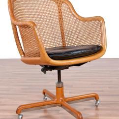 Swivel Chair Office Warehouse Helinox Multicam Mid Century Modern Cane Desk By Ward Bennett