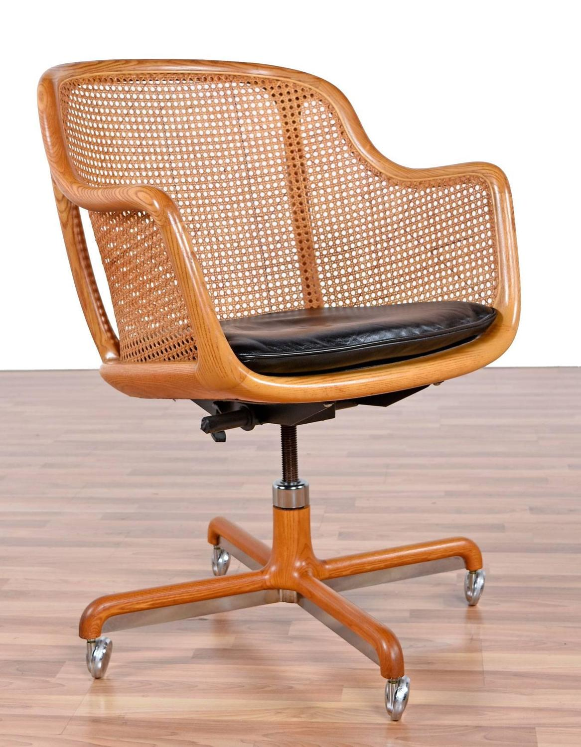 Mid Century Modern Office Chair Mid Century Modern Cane Swivel Desk Chair By Ward Bennett