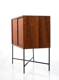 Mid-Century Modern Teak Record Cabinet on Custom Base at ...