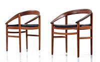 Danish Bowed Back Mid-Century Modern Teak Armchairs by H ...