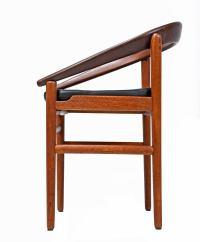 Danish Bowed Back Mid-Century Modern Teak Armchairs For ...