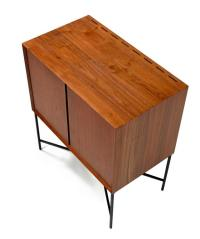 Mid-Century Modern Walnut Storage Cabinet on a Custom ...