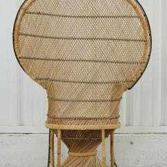 Antique High Back Wicker Chairs Allen And Roth Vintage Peacock Chair With Black Trim For Sale At 1stdibs