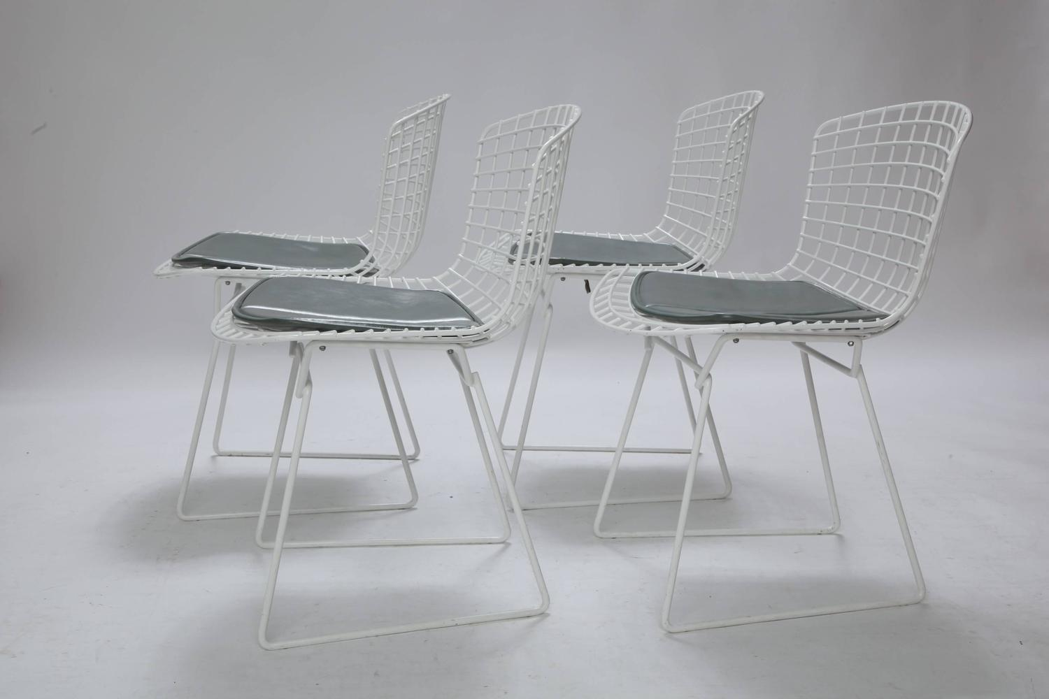 bertoia wire chair original chairs good for back problems four harry knoll with