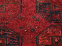 Very Good Red Afghan Village Carpet by Ersari Turkmen ...