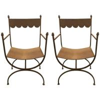 Wrought-Iron Garden Armchairs at 1stdibs