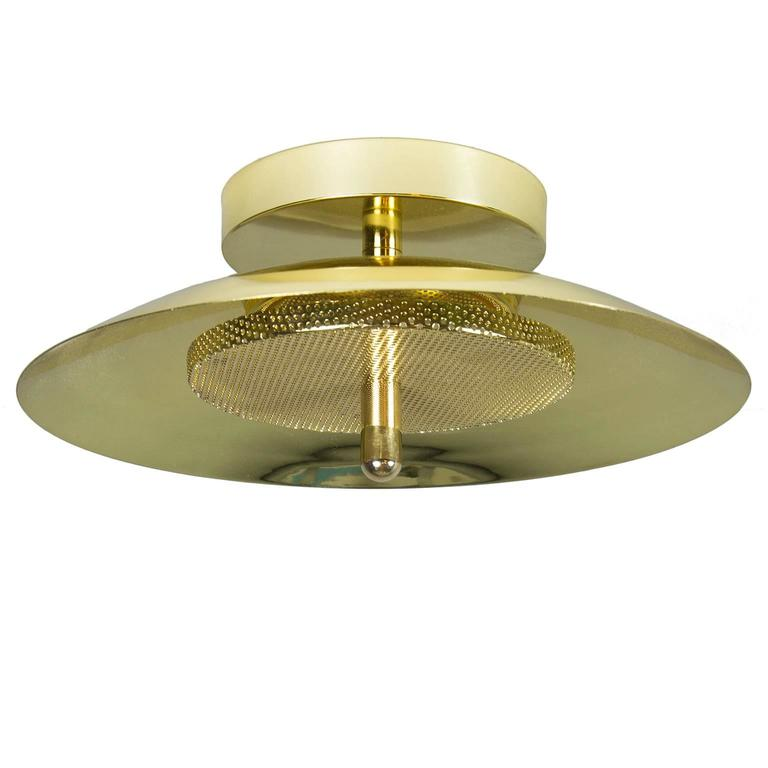 Signal WallCeiling Light from Souda Brass Modern Sconce or FlushMount For Sale at 1stdibs