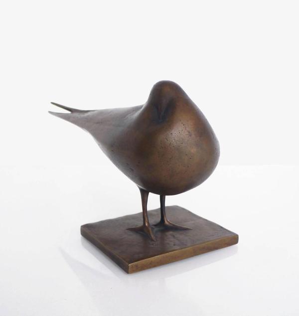 Mid-century Modern Abstract Bronze Dove Sculpture