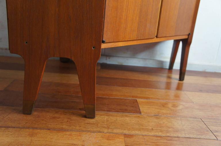 Mid-Century Modern Scandinavian Design Corner Cabinet