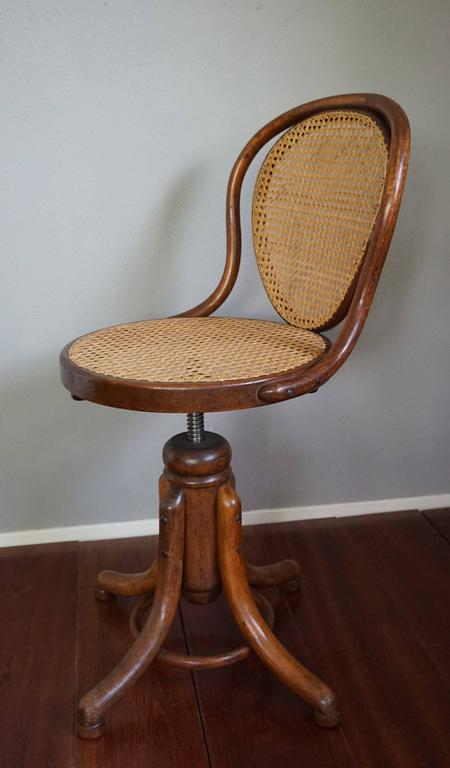 thonet chair styles roman exercise elegant viennese bentwood and webbing ladies desk or piano swivel for sale at 1stdibs
