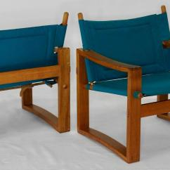 Teal Lounge Chair Kitchen Seat Replacement Pair Of Mid Century Chairs With Leather Straps