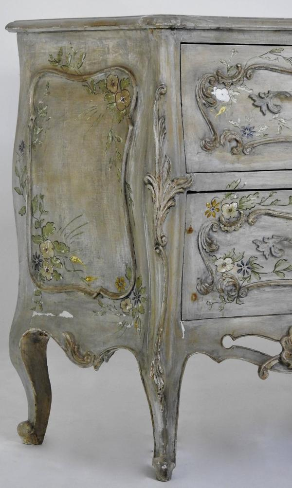 Italian Decorated Bombe Chest Hand-painted 1stdibs