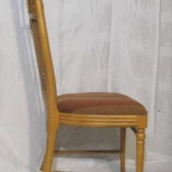 Wood High Chair For Sale Tufted Slipper Target Set Of Six Light Back Dining Chairs With