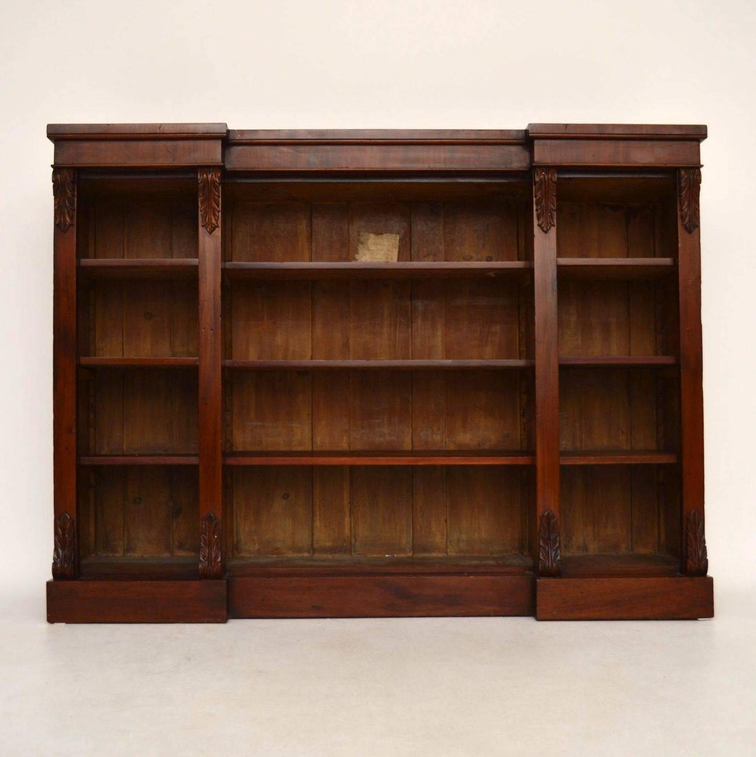 bookshelf chair for sale tullsta cover gray antique victorian mahogany open bookcase at 1stdibs