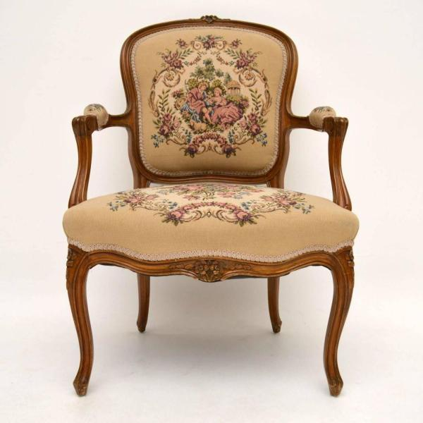 Pair of Antique French Salon Armchairs For Sale at 1stdibs