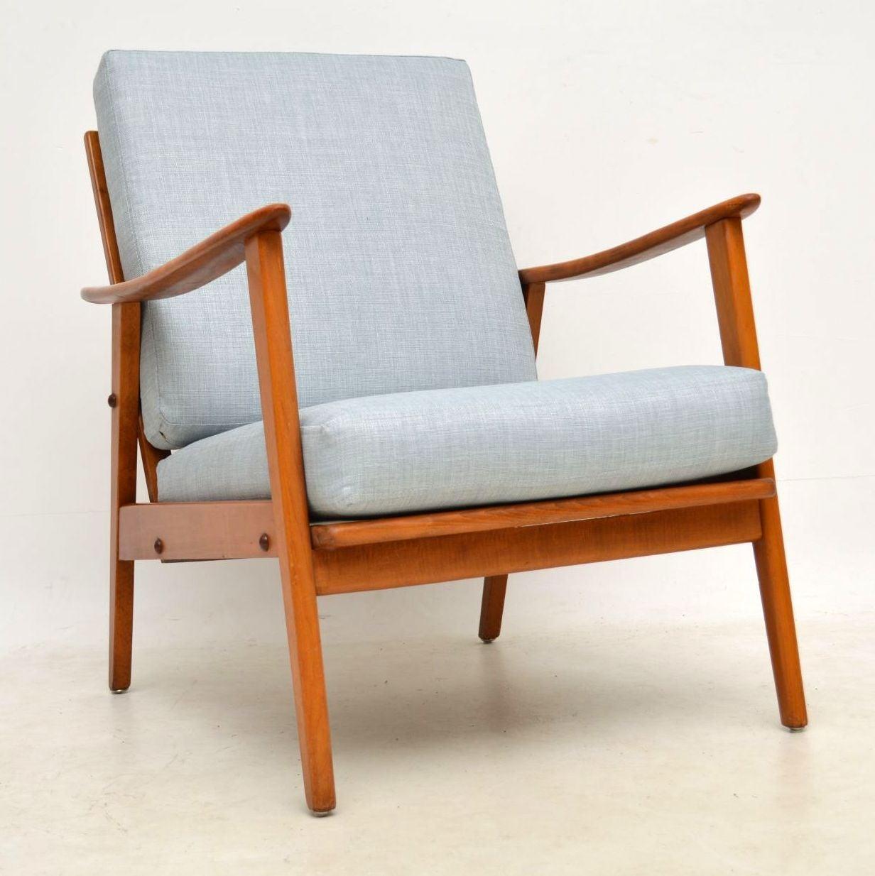 vintage arm chair w h gunlocke co 2 1960s danish armchair at 1stdibs