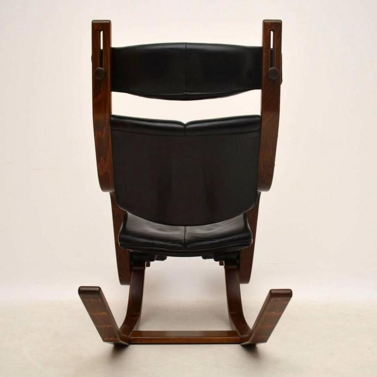 stokke gravity balans chair wooden dining leather and bentwood armchair by peter opsvik for at 1stdibs
