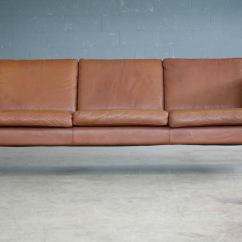 Borge Mogensen Sofa Model 2209 Deconstructed Shelter Arm Review Style Three-seat In Cognac Leather By ...