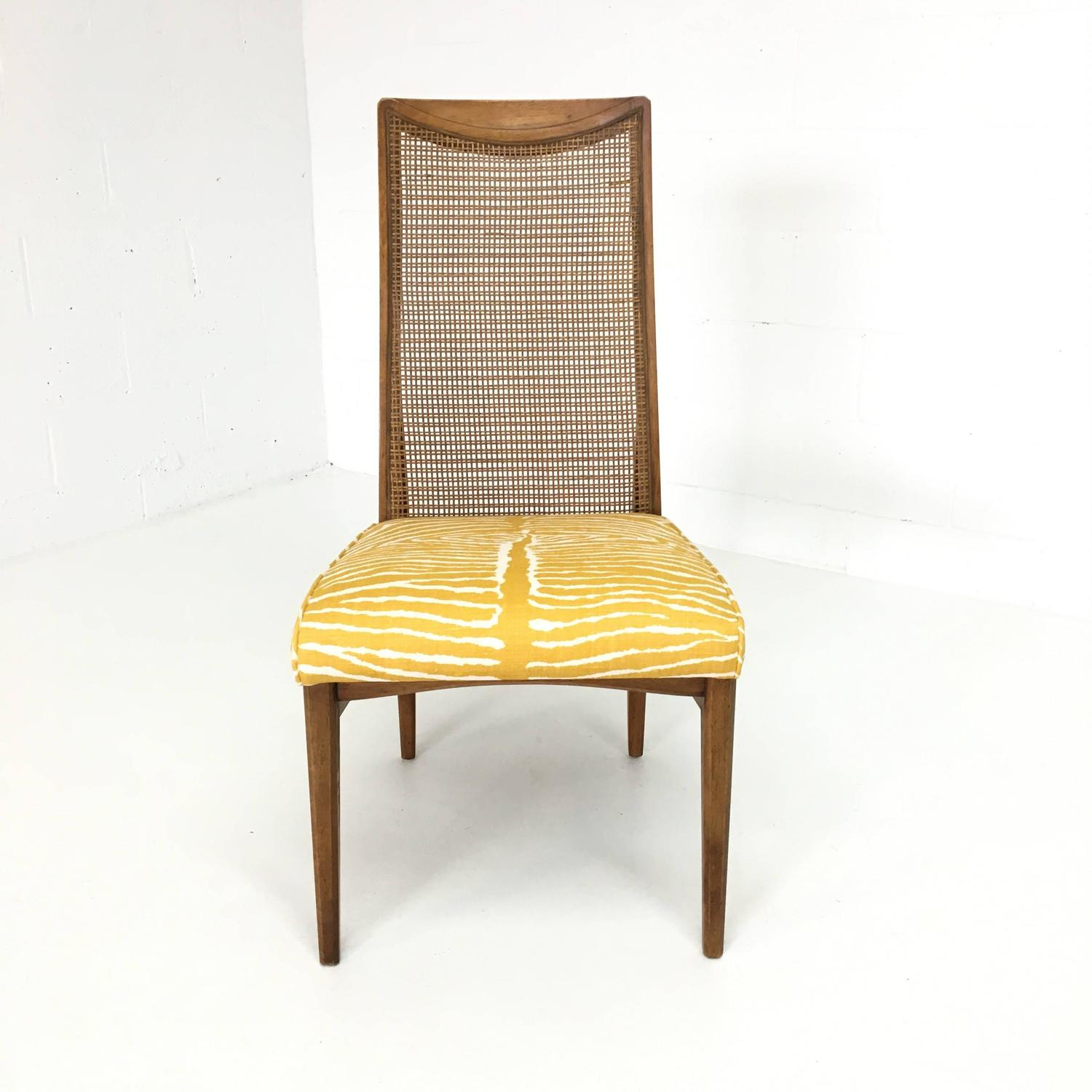 zebra dining chairs bobs furniture set of six mid century modern caned