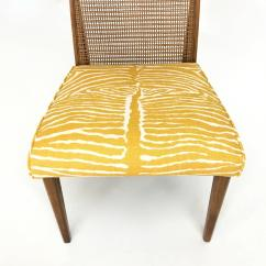 Zebra Dining Chairs Ikea Mellby Chair Covers Set Of Six Mid Century Modern Caned