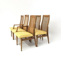 Zebra Dining Chairs Pride Parts Set Of Six Mid Century Modern Caned