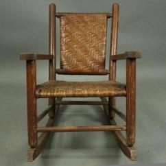 Rocking Chair Height Foam For Cushions Antique Old Hickory Adirondack Style Child S Rocker Circa 1920 At Features Woven Seat And Back Measures