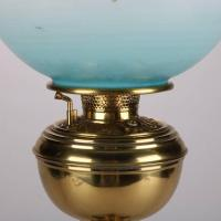 Antique Brass Gone with the Wind Table Lamp with Hand ...