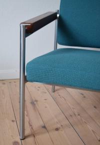 Danish Mid-Century Kay Bch Hansen Chrome and Teak Lounge ...