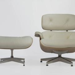 Ivory Leather Office Chair Adirondack Picture Frame Favors Eames Lounge And Ottoman 670 671 In White Ash