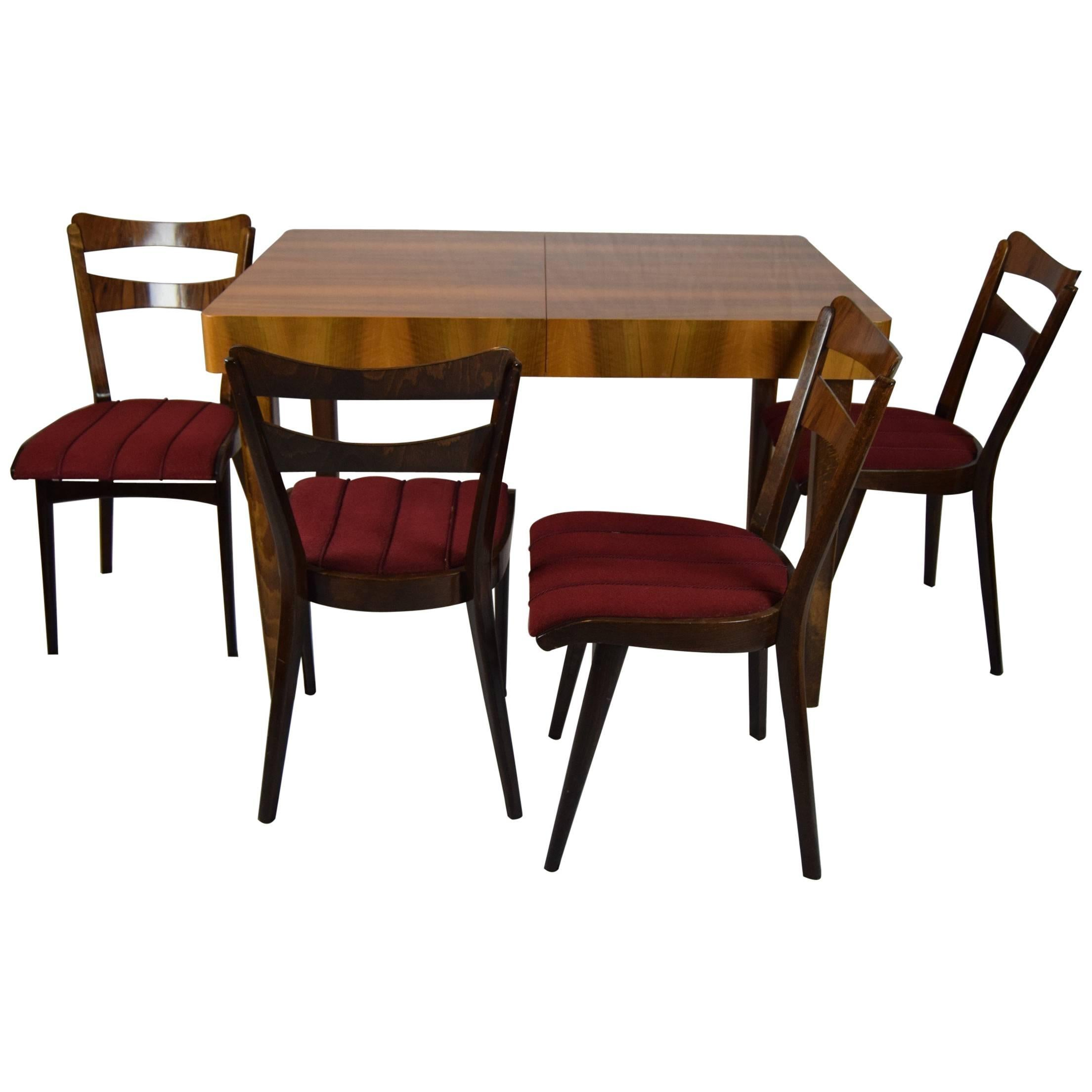 Teak Dining Room Chairs Set Of Four Teak Dining Chairs And Dining Table 1960s