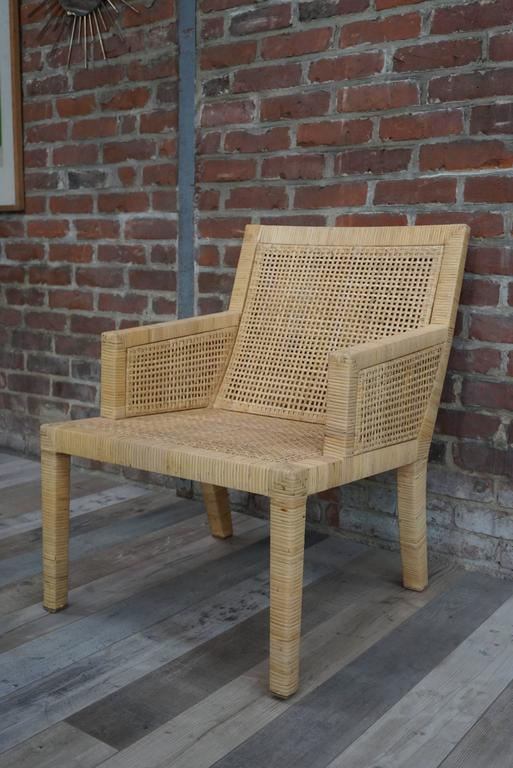 Bergre Rattan Model 1930 by JM Frank and A Chanaux for